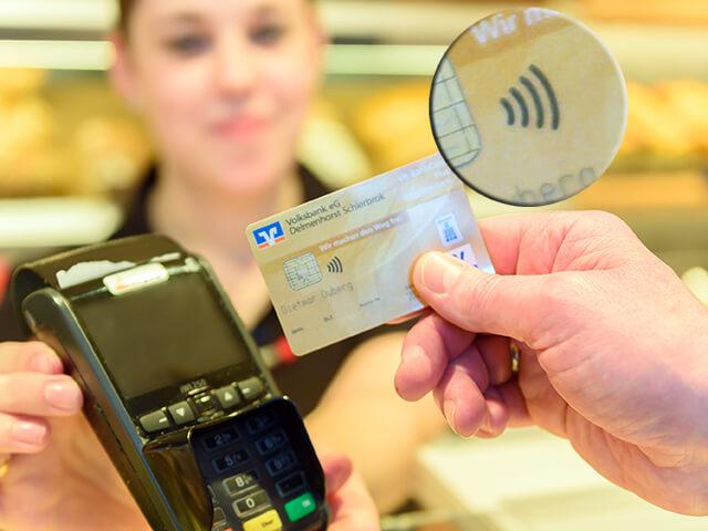 kontaktlos bezahlen volksbank